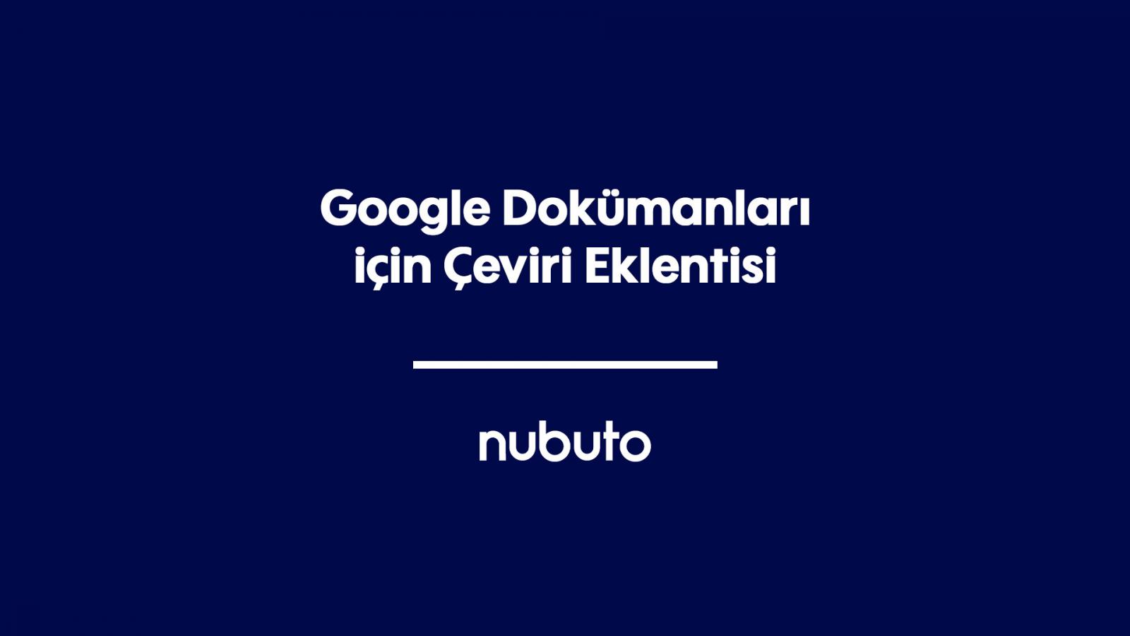 Google Dokümanları için Çeviri Eklentisi